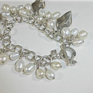 Silpada Jewelry - Silpada Pearl Leaf Cha Cha Bracelet B1631